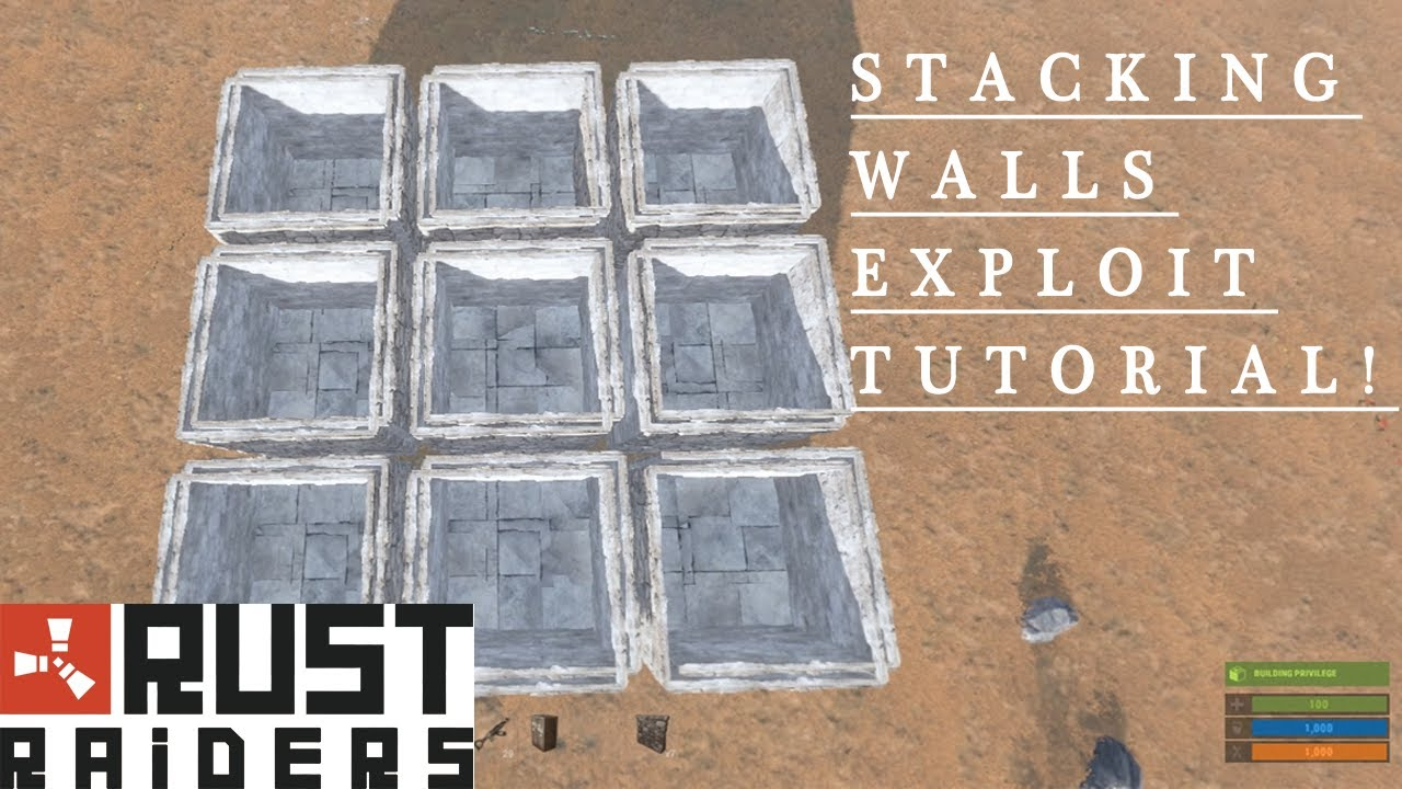 Rust Door Stacking & Sure Raid Our Base With Stacked C&fires