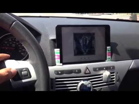 Opel saturn vauxhall astra ipad mini setup youtube for Astra h tablet install