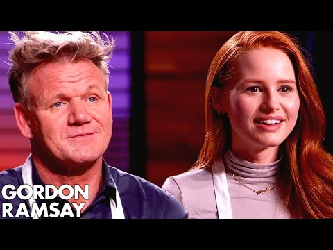 Gordon Ramsay vs Madelaine Petsch In VEGAN MASTERCHEF COOK O
