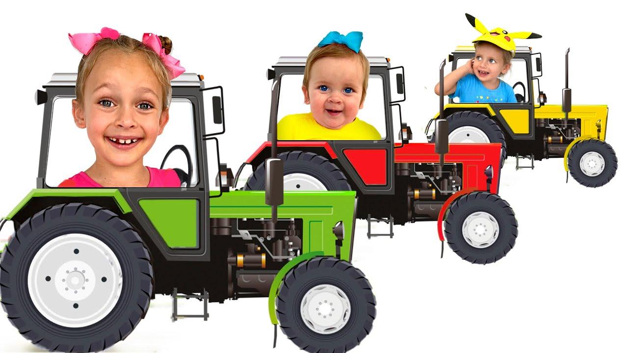 Едет трактор - Развивающая песенка для детей