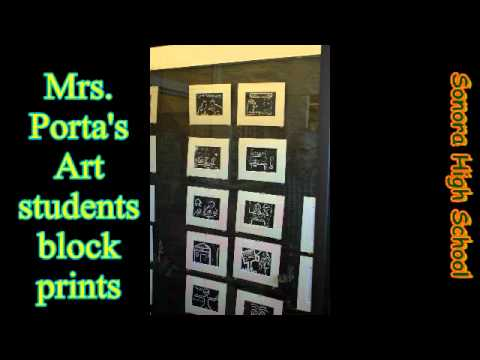 Sonora High School Porta's art class.avi