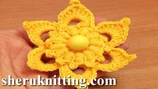 Crochet Flower Puff Stitch Center Tutorial 72 Crochet Flower Library Free Patterns
