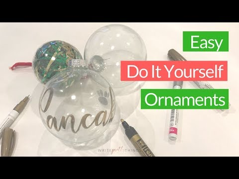 DIY Calligraphy Ornaments