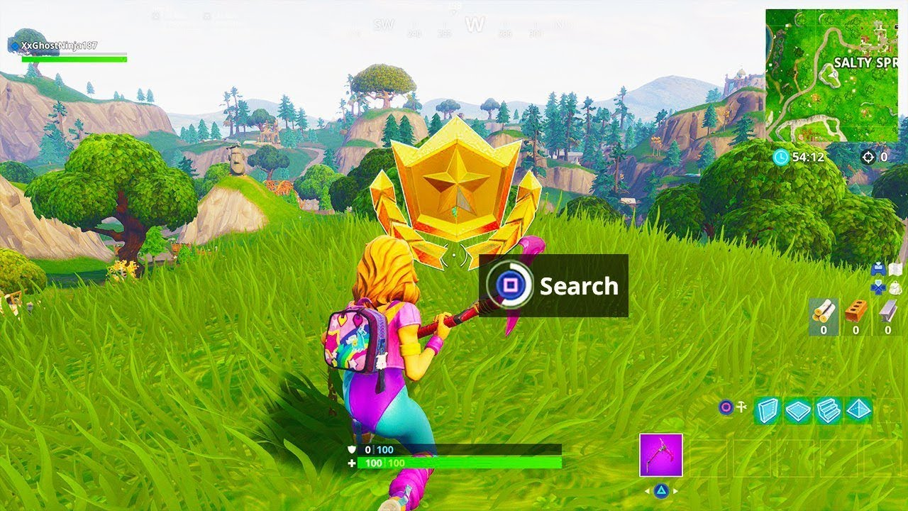 Where Is The Stone Head Looking In Fortnite Search Where The Stone Heads Are Looking Fortnite Week 6 Battle Pass Star Location Youtube