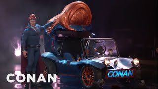 Conan Unveils His Superhero Vehicle  - CONAN on TBS