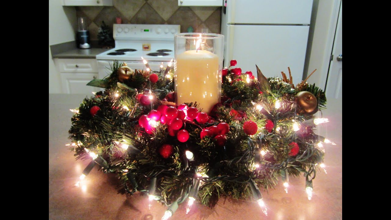 diy christmasholiday centerpiece youtube - Christmas Centerpiece Decorations