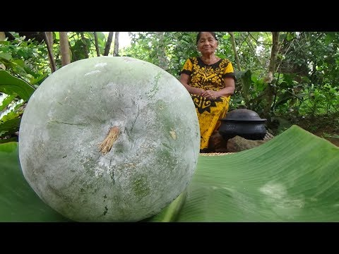 Village Foods - Cooking Winter Melon (Ash Gourd) Curry by my Mom / Village Life