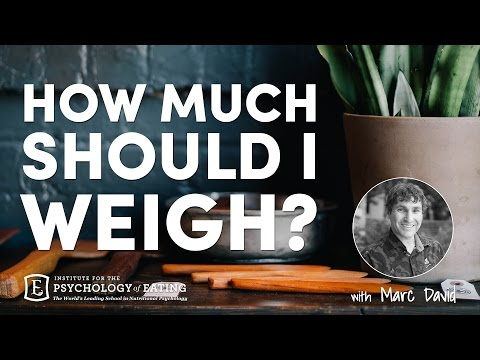 How Much Should Weigh With Marc David