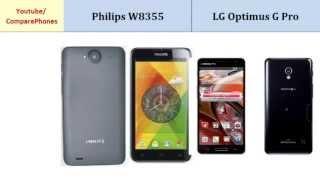 Philips W8355 VS LG Optimus G Pro, specs comparison