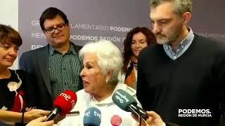 Ana Jiménez, la abuela de las vías, visita la Asamblea Regional