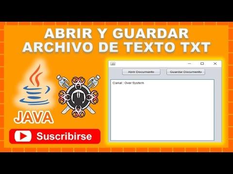 Abrir y Guardar Archivo de Texto TXT NetBeans