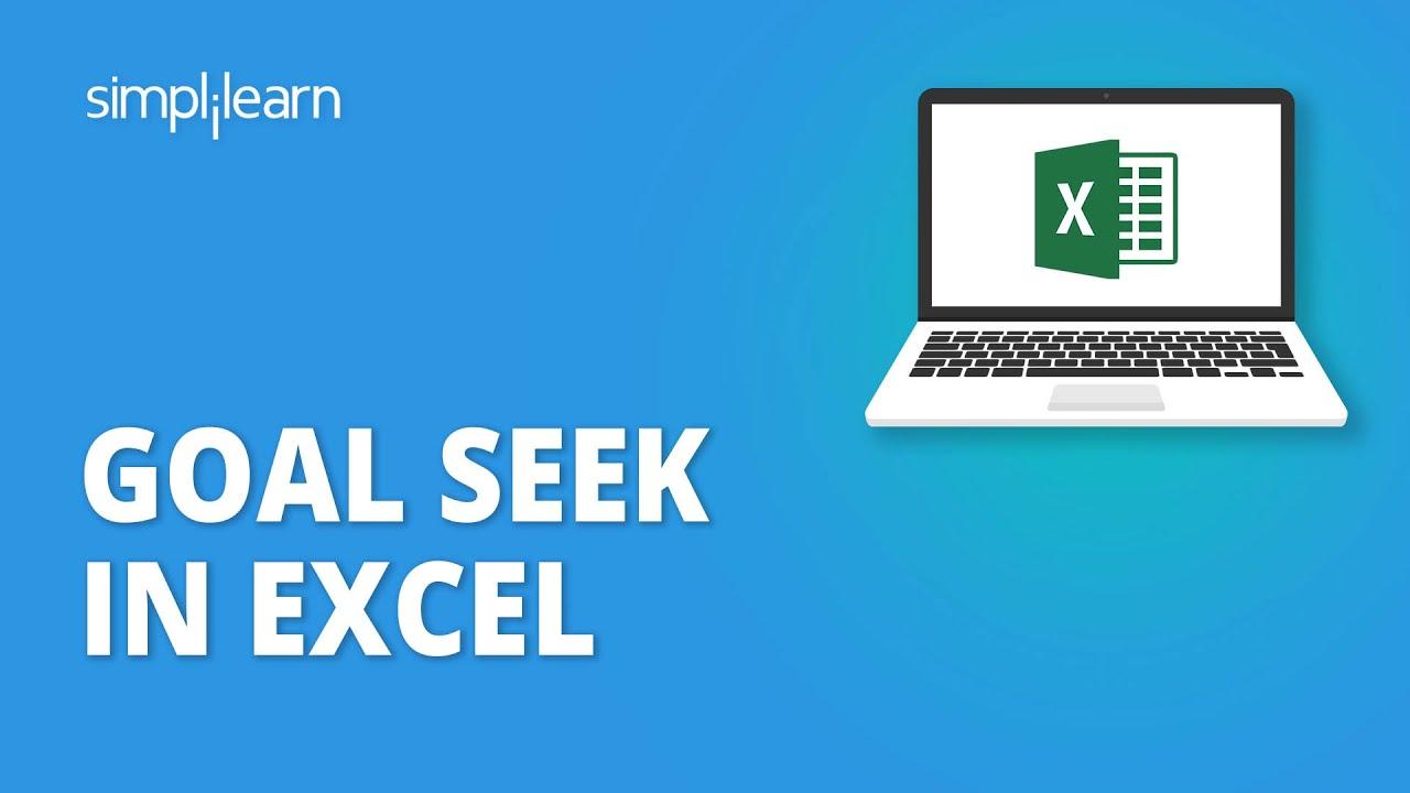 Goal Seek In Excel | Excel Goal Seek Explained | Excel Tutorial For Beginners