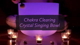 Chakra Clearing Crystal Singing Bowl #crystalsingingbowl #heartchakra #soundhealing