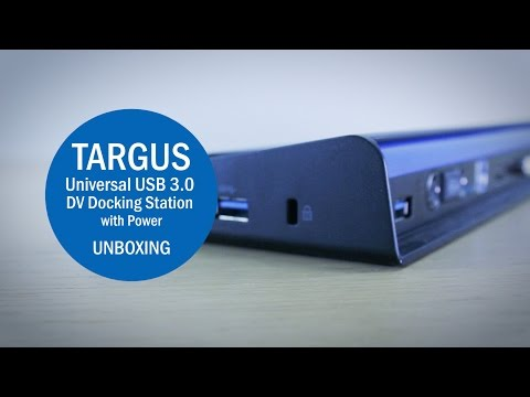 The Targus Universal USB 3.0 DV Docking Station With Power Unboxing