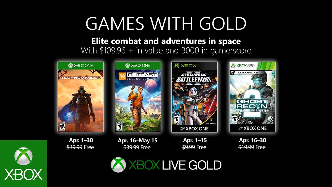 Xbox April 2019 Games With Gold Youtube