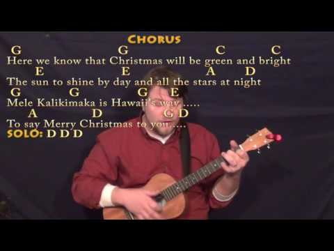 Mele Kalikimaka (Christmas) Bariuke Cover Lesson in G with Chords ...
