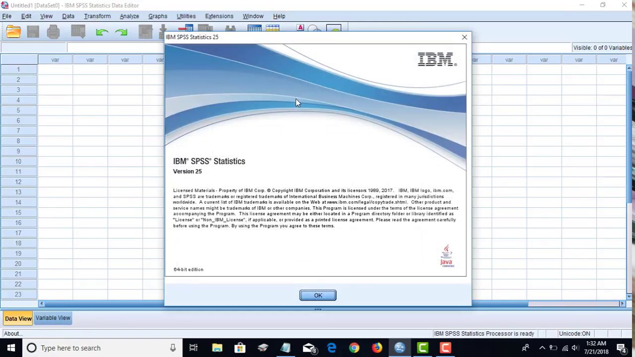 Download IBM SPSS Statistics 25 0 for Windows 64 bit from Google Drive