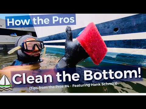 How to Clean the Bottom of a Sailboat Underwater! (Tips from the Pros #4 /Patrick Childress #55)