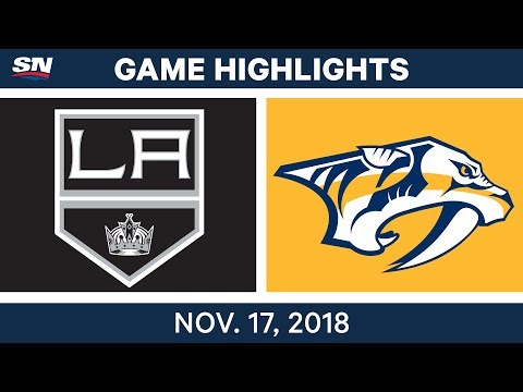 NHL Highlights | Kings vs. Predators – Nov. 17, 2018