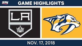 NHL Highlights | Kings vs. Predators – Nov. 17, 2018