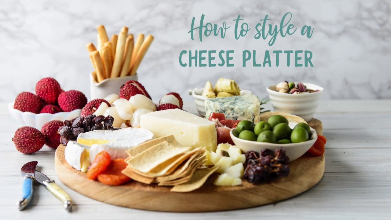 how to style a cheese platter youtube