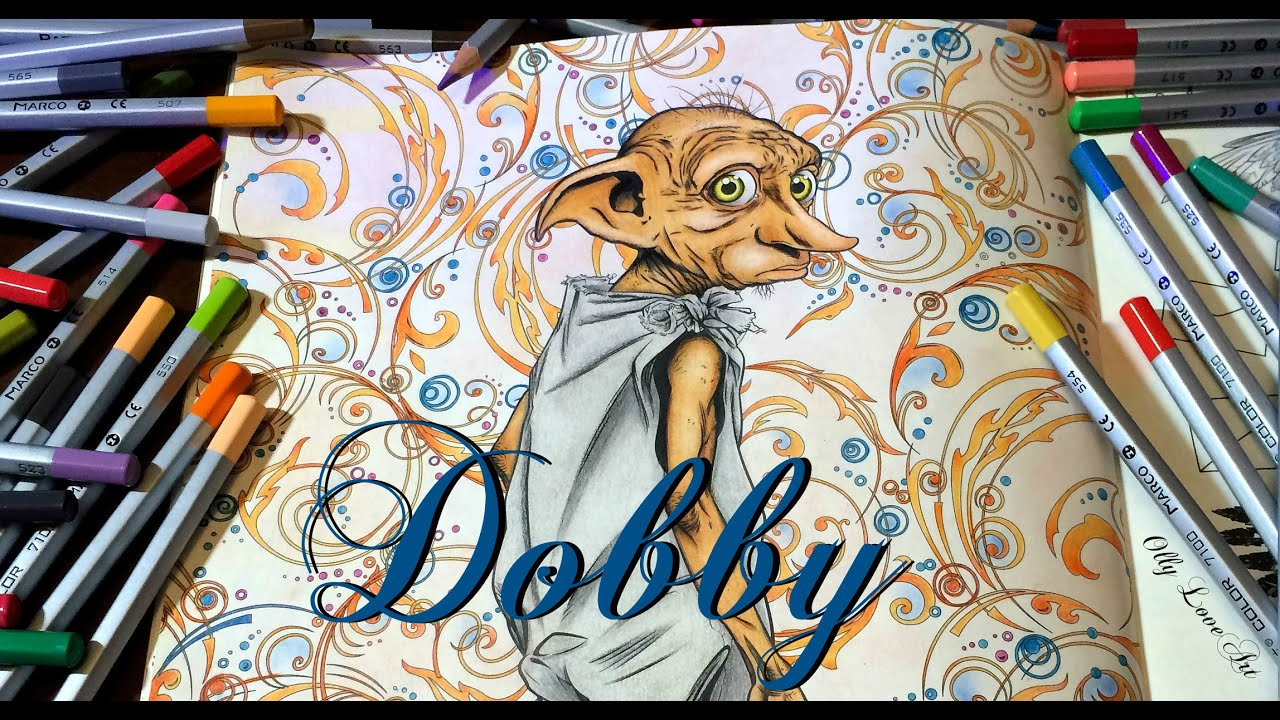 Harry Potter Coloring Book Dobby | Harry Potter Coloring Pages Dobby