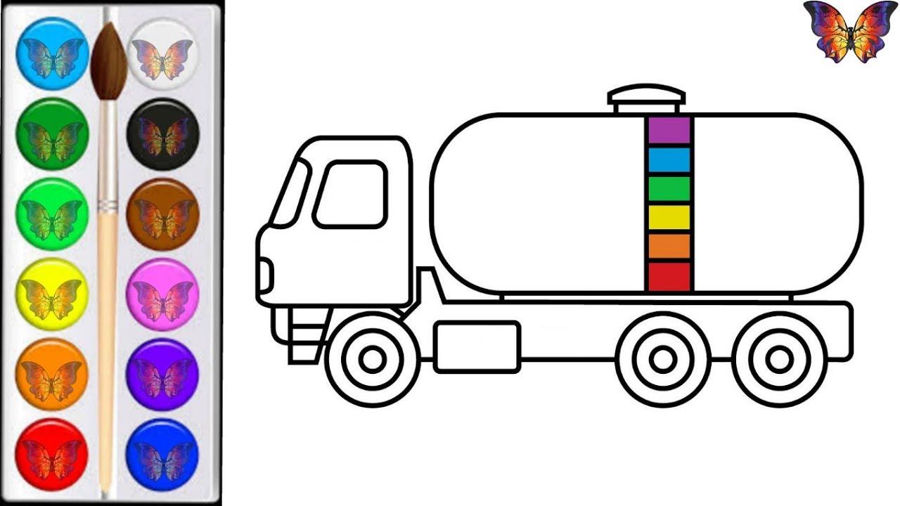 Как нарисовать ГРУЗОВИК / мультик раскраска ГРУЗОВИК для ...