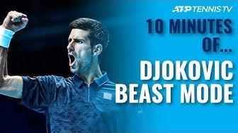 10 MINUTES OF: Novak Djokovic 'Beast Mode' Tennis 🤯