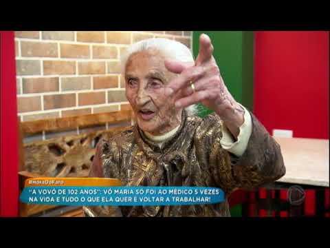 Aos 102 Anos, Vó Maria Abre O Coração E Diz Que Sonha Em Voltar A Trabalhar