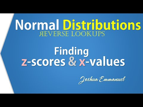 Normal Distribution:  Finding z and x -Reverse Lookup