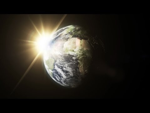 Rotating Planet Earth With Atmosphere 02 - free HD transition footage