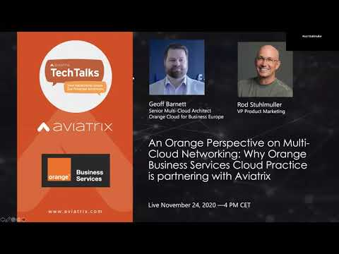 TechTalk: An Orange Perspective on Multi-Cloud Networking: Why OBS Cloud is partnering with Aviatrix