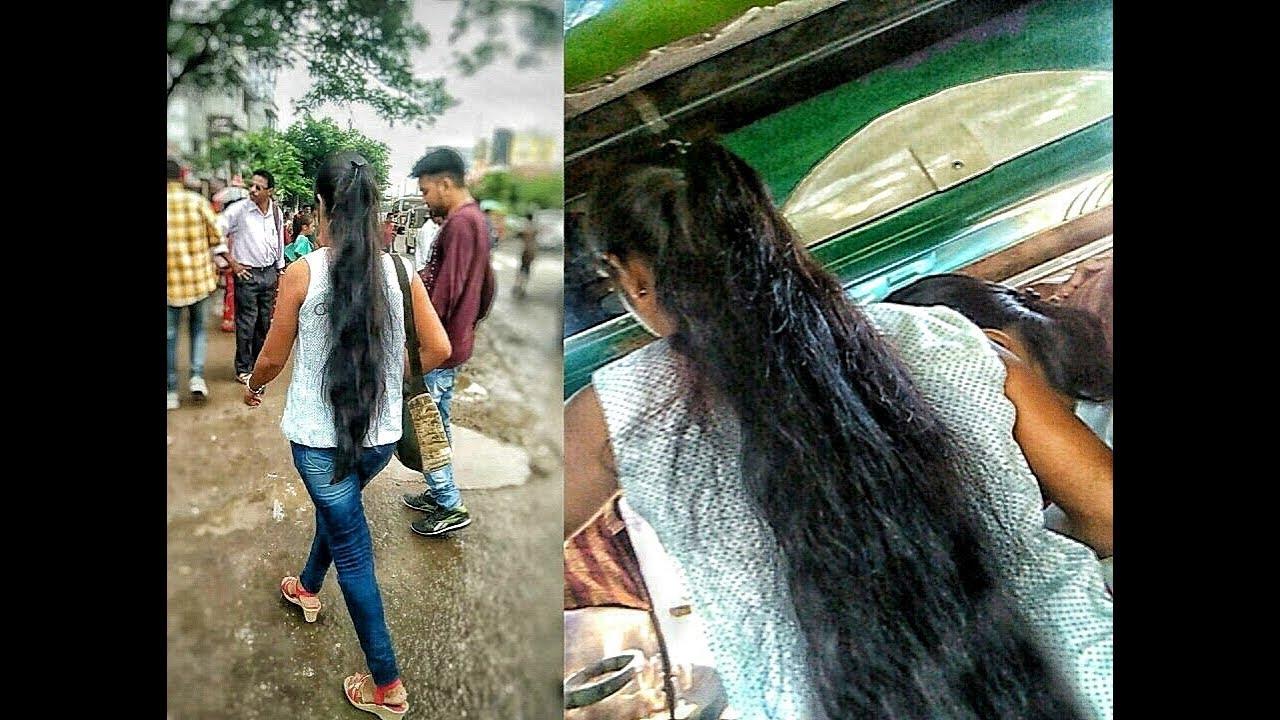 Long Hair Girl Traveling A Bus In Guwahati City - Youtube-6336