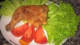 Жареная курица с сыром! Куриные ножки в духовке. Очень вкусно!