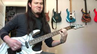 mastodon island leviathan guitar cover dimarzio titan metal