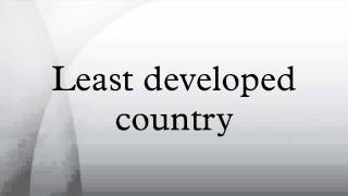 Least developed country