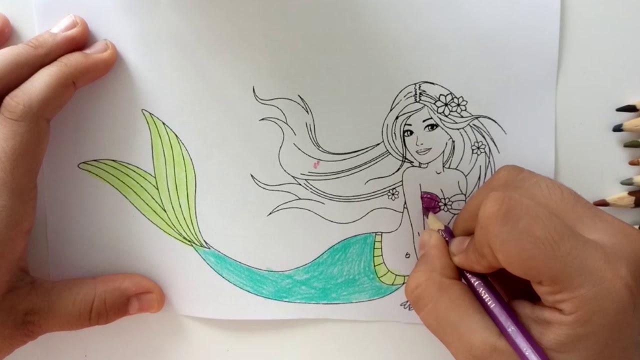 Prenses Boyama Oyunu Deniz Kızı Boyama Oyunu Youtube