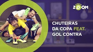 DESAFIO feat. GOL CONTRA: Chuteiras da Copa (Neymar, Messi e Cristiano Ronaldo) | DANDO UM ZOOM #87