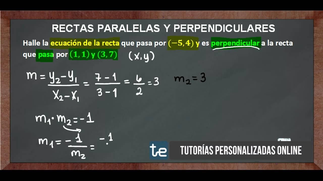 Rectas Paralelas y Perpendiculares No  4