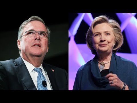 Hillary and Jeb consider presidential pros and cons