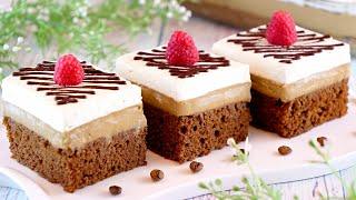 Шоколадно-кофейные пирожные со взбитыми сливками! Вкусный десерт для большой компании!