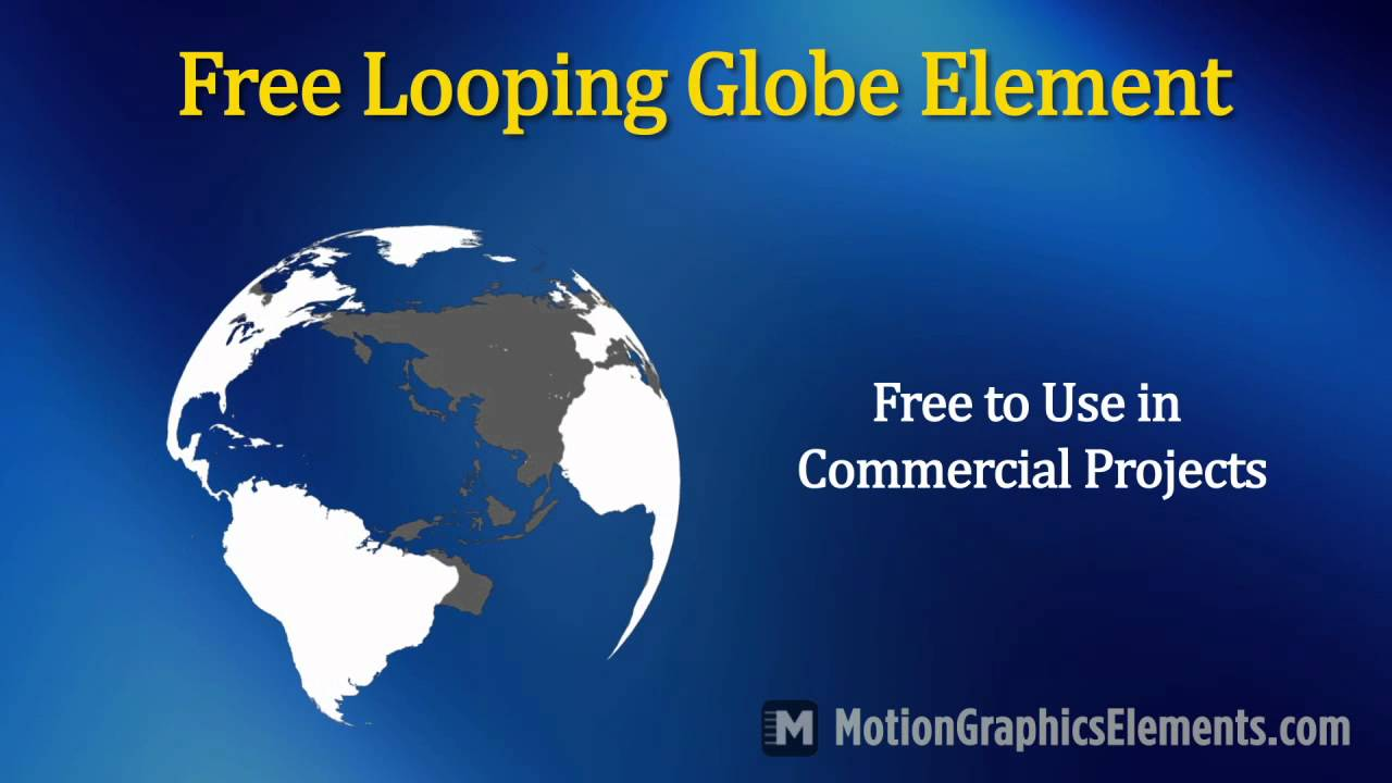 Free looping animated globe video element youtube for Motion 4 templates free download
