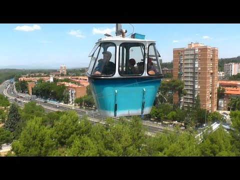 Teleferico de Madrid Spain - Tourist attraction Cable railway City sightseeing España cable car