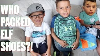 WHAT'S IN MY TRAVEL BACKPACK? IF KIDS PACKED THEIR OWN BAGS FOR VACATION! VLOG TRAVEL WITH KIDS