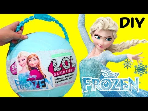 LOL Big Surprise CUSTOM Ball Elsa & Anna DIY ! Toys and Dolls Fun for Kids Frozen Blind Bags | SWTAD