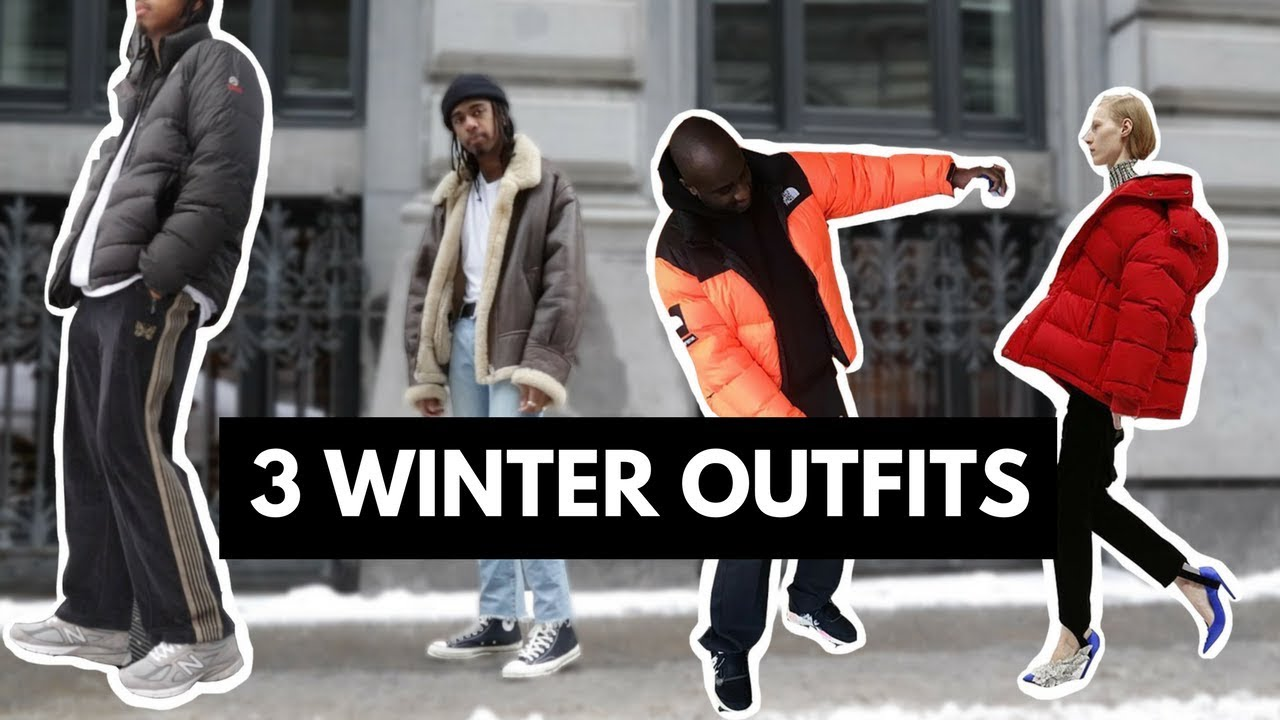 [VIDEO] - 3 WINTER OUTFITS - puffer jackets + more 2