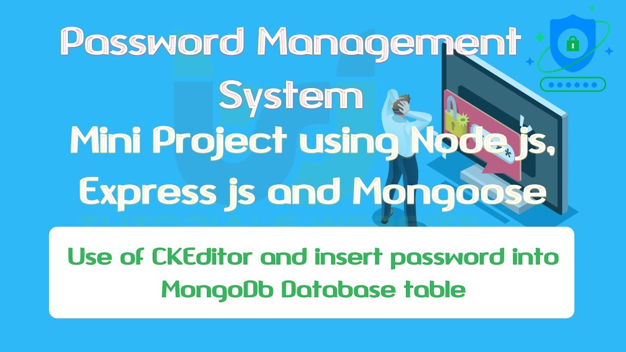 use CKEditor in node js and save password details in mongodb