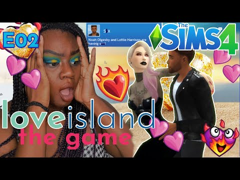 Sims 4 Lets Play💖 Love Island: The Game #2 🏝️LOTTIE THROWIN IT BACK?! + Never Have I Ever💋