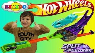 Хот Вилс Трек с пилой  Супер трек  Машинки Хот Вилс Unboxing Hot Wheels Split Speeders. Kikido