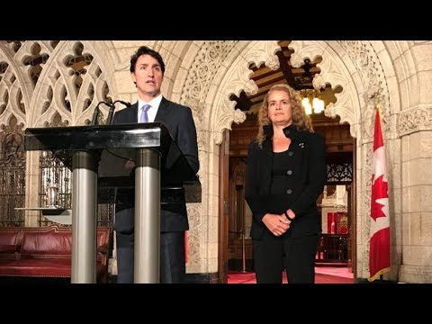 Justin Trudeau introduces Julie Payette as Canada's next governor general